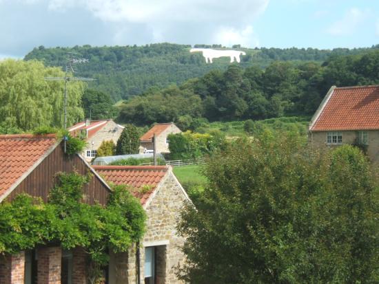Kilburn, UK: View of White Horse