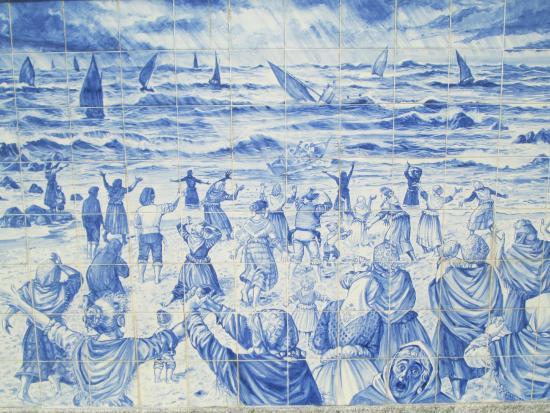 Hist ria picture of muro de azulejos povoa de varzim for Azulejos historia