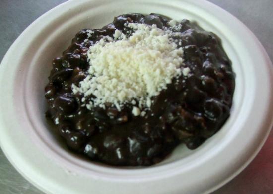 La Arepa: Black beans (caraotas) & Cotija cheese