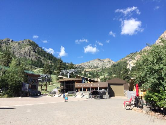 The Village At Squaw Valley: Village at Squaw and top of the mountain hike.