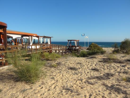 Praia Verde Boutique Hotel: Acceso a Praia Verde con el Chiringuiro de calidad Pececitos en La Arena y del buen restaurante