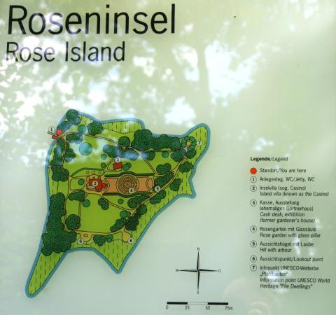 Roseninsel: Übersichtskarte