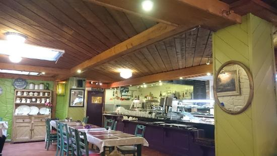 Interior view picture of the country market restaurant