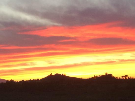 Tenuta Santa Cristina : Sunset from terrace