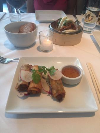 Saucebox : Duck, Sweet Potato Spring Roll, Grilled Octopus, Softshell Crab Dim Sum all excellent.