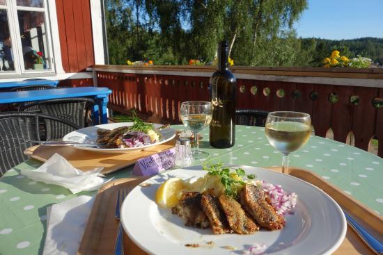Nordingra, Suecia: Otroligt god mat - här stekt strömming