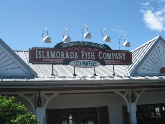 View from parking lot picture of islamorada fish company for Fish co