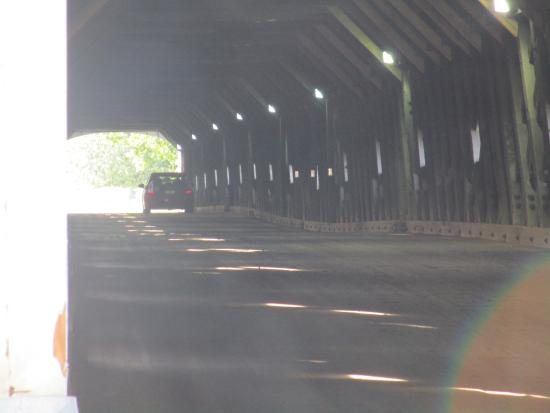 Cornish-Windsor Covered Bridge: Inside the bridge