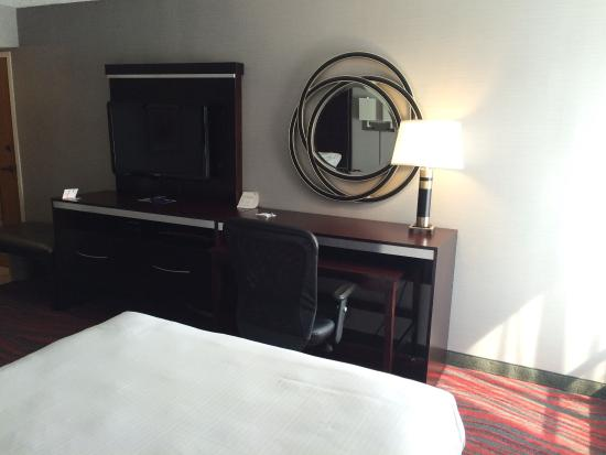Holiday Inn Express Painted Post - Corning Area : Room photos - double queen. Recently renovated. Tech-savy upgrades. September 2015