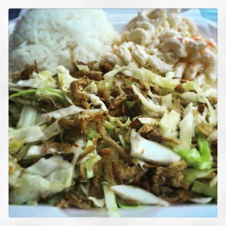 Local Food: Kalua Pork and Cabbage Plate Lunch