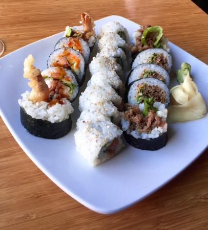 Shrimp Tempura roll Poki Roll and Kobe Beef Roll - Picture of Sushi ...