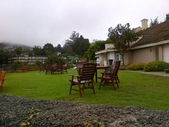 Club Mahindra Derby Green: great outdoor seating with valley view