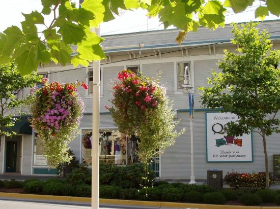 Nanaimo, Canada: Beautiful Flower hanging baskets