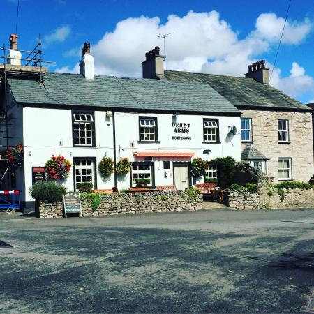 Derby Arms Inn: The outsides of The Derby Arms & it's neighbouring accommodation, The Stables.