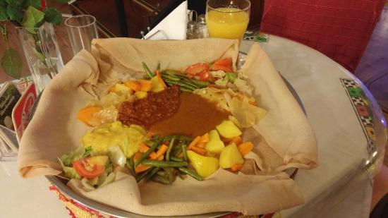 Lovely quaint Ethiopian restaurant, the top of delicious food, a great little restaurant for a r
