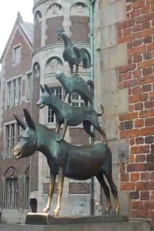 Hotel Stadt Bremen Garni: les animaux musiciens