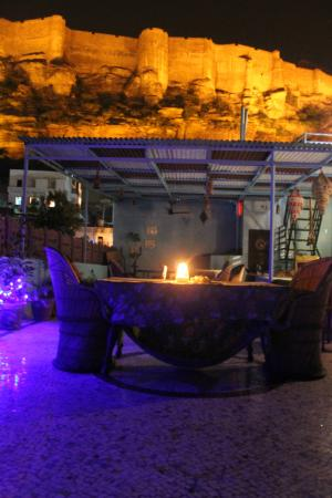 Kesar Heritage Restaurant : night view from the first roof