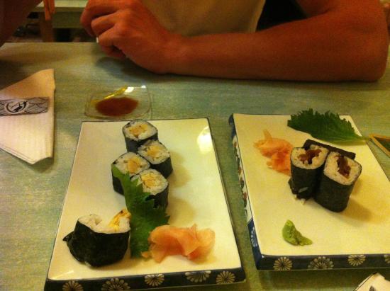 Arigato: Sushi with tamaro (egg)