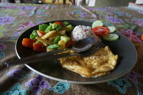 พะโต๊ะ, ไทย: Pomniejszona (na moją prośbę) porcja wegetariańska