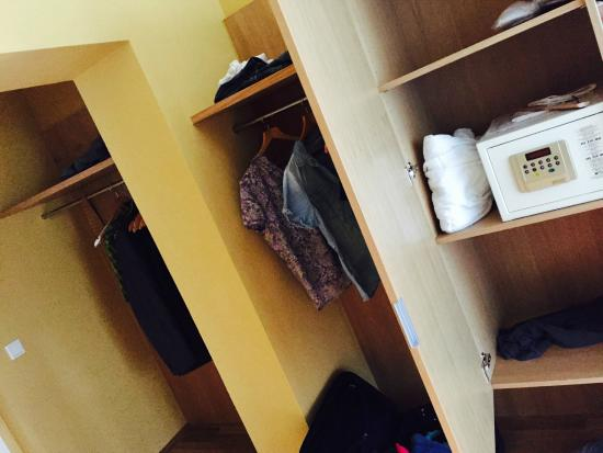 No Dresser And Just These Closets Without Doors For Cloths