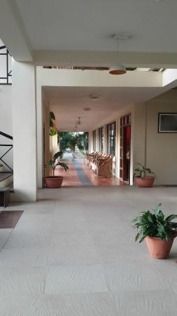 Verandah adjacent to Dining hall on Right Side