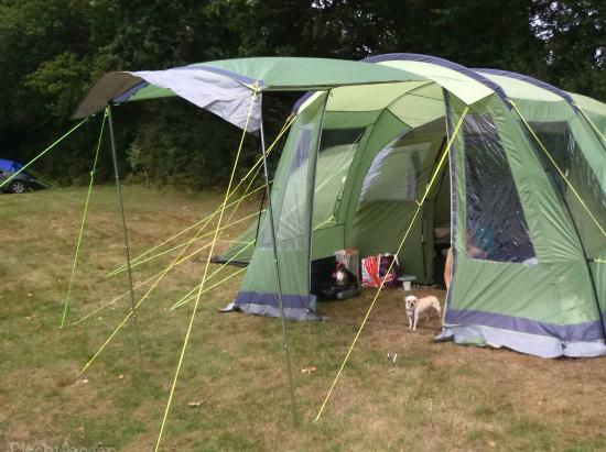 Long Acres C&ing Our tent at long acres the meadow field non electric grass pitch & Our tent at long acres the meadow field non electric grass pitch ...