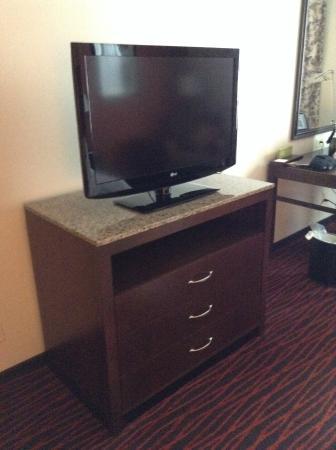 Gentil Hilton Garden Inn Clifton Park: Tv Stand/cabinet. Large Flat Screen