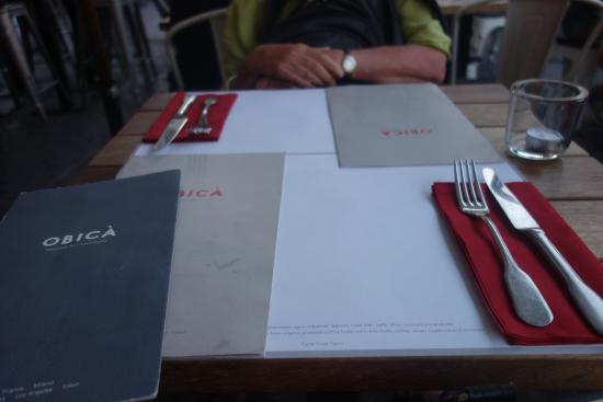 Obicà Mozzarella Bar - Campo dei Fiori: La table