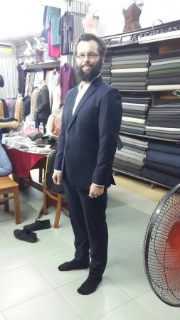Suit made from Tony The Tailor