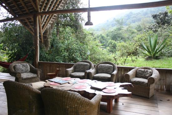 El Monte Sustainable Lodge: The View From The Seating Area Of The Main House