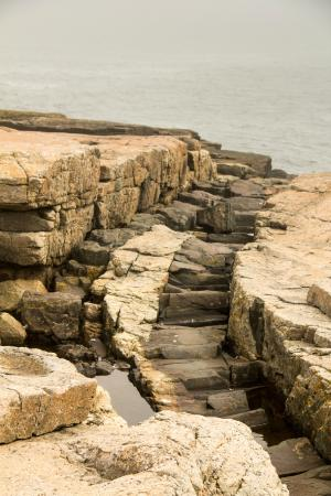 Schoodic Point: Rocks of Differing Hardnesses Erode at Different Rates