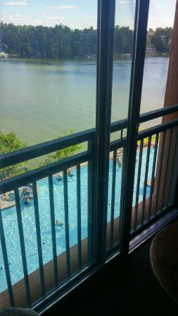 Wilderness on the Lake: View from our room from 3rd floor.  Pool & Lake view.
