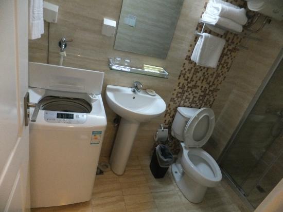 Star Hotel & Suites Shanghai: Washing Machine Inside Bathroom