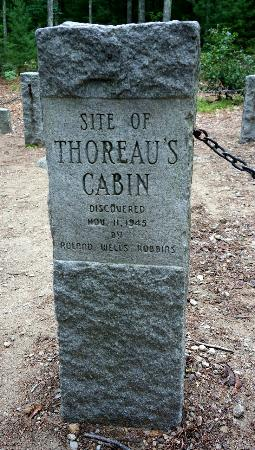 Concord, MA: Site of Thoreau's Cabin, discovered in 1940s