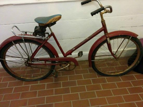 Fredericton Region Museum: a bike that was dropped by a plane!!!