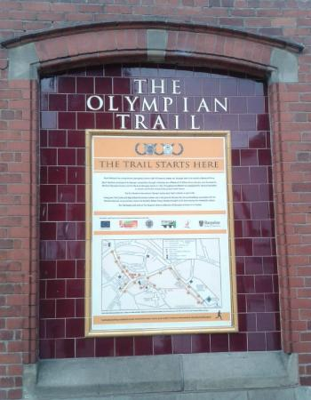 The Olympian Trail Plaque Much Wenlock