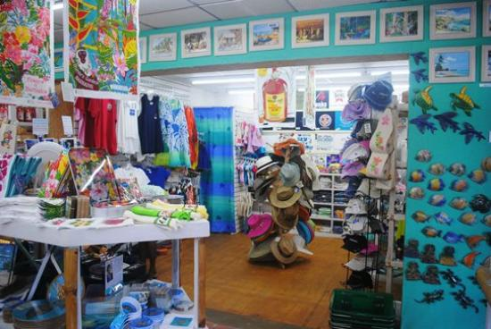 Rockley, Barbados: Quayside store. Lovely, airy and full of colour