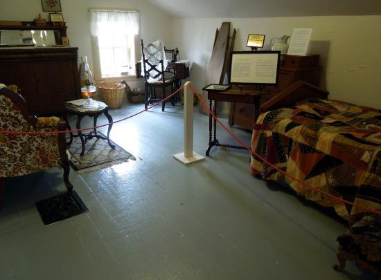Port Hope, Мичиган: Lighthouse Museum - Second Floor Bedroom