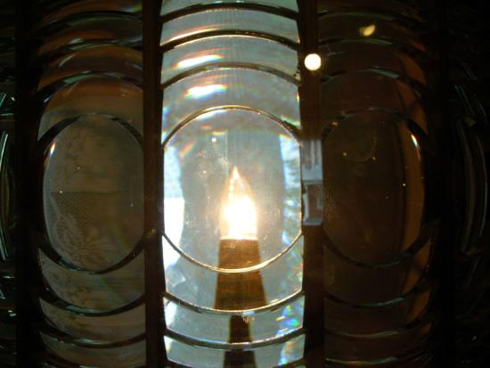 Port Hope, Мичиган: Lighthouse Museum - Fresnel Lens