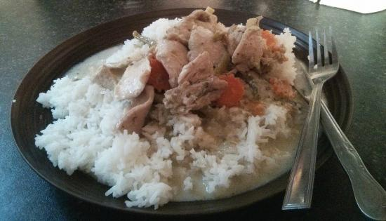 Bolton, UK: Green Curry with Chicken