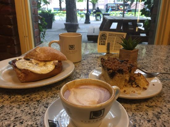 Grand Central Bakery: Great egg sandwich and blueberry coffee cake