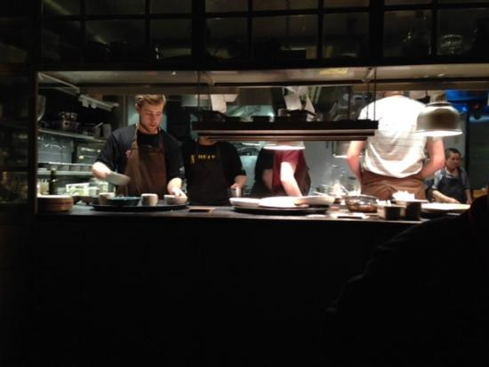 Kitchen As Seen From Chef S Table Picture Of Kol