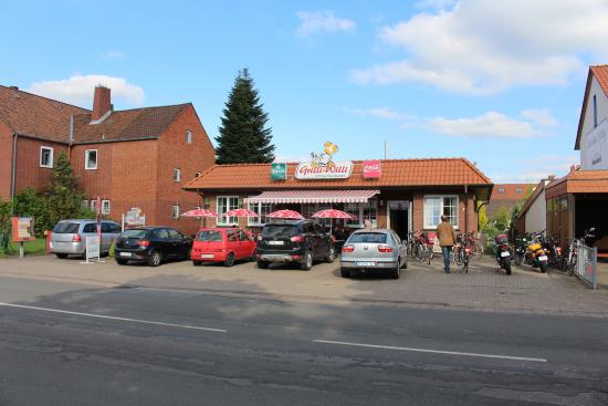 Petershagen, Tyskland: Grilli-Willi Imbiss-Restaurant