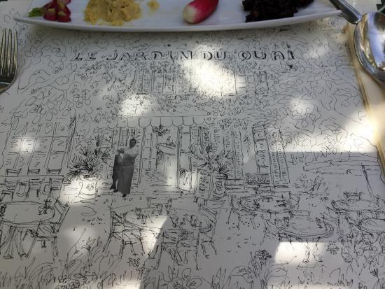 Picture of restaurant le jardin du quai l for Le jardin du quai