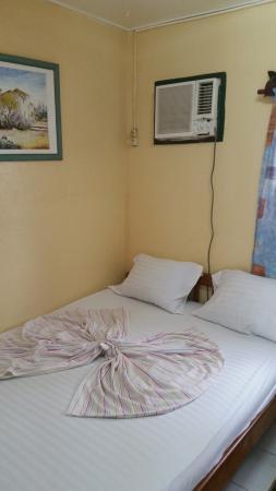 Estuaire Province, Gabon: Bed inside a Chez Beti cabin