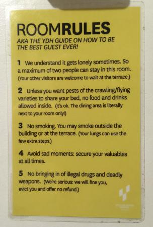 Hotel Guest Room Rules