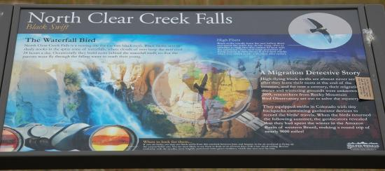 Before you get to the falls, there are excellent descriptive signs...
