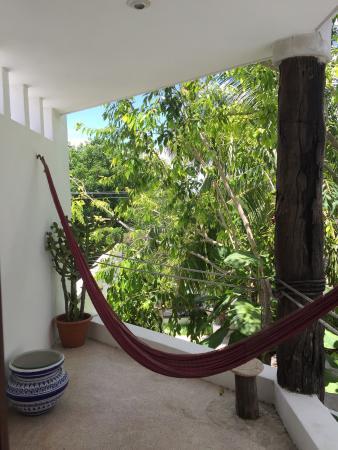 Mi Casa en Cozumel: Room terrace with hammock