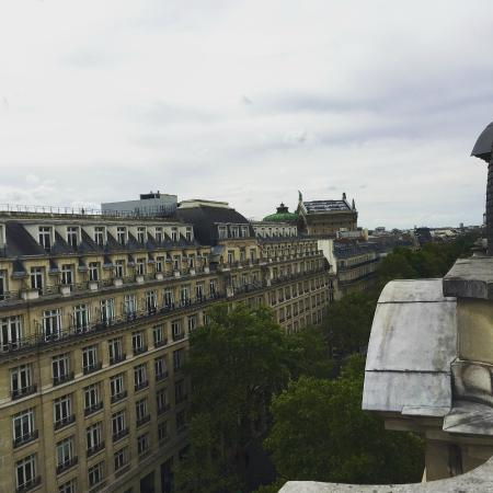 view from the balcony millennium hotel paris opera picture of millennium hotel paris opera. Black Bedroom Furniture Sets. Home Design Ideas