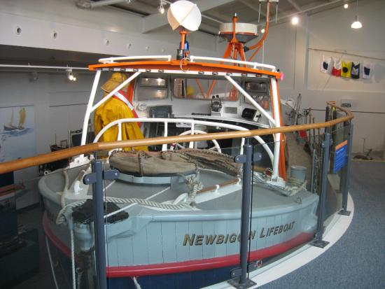 Newbiggin Maritime Centre: The old lifeboat now on display here